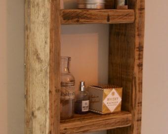 Reclaimed Wood Bathroom or Kitchen Shelving Unit