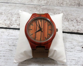 Wood Wrist Watch -Personalized- Custom Groomsmen gift Accessories for Men Fathers Day Gift -Best Man - Gifts for Men - FREE ENGRAVING! (MW2)