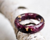 nature rings - nature inspired rings - nature ring - resin ring - eco resin - botanical ring -  terrarium ring modern flower child jewelry