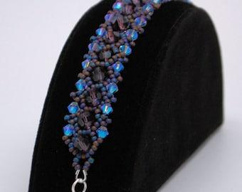 Swarovski Crystal Beaded Bracelet - Midnight Lights