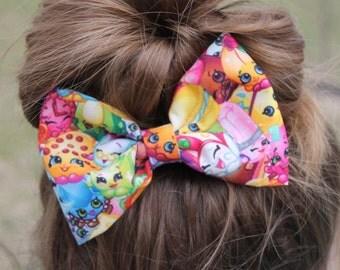 Shopkins hair bow, shopkins inspired hair bow, shopkins inspired bow, poppy corn shopkins, girls hair bow, shopkins, girls hair bow, SALE
