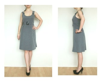 Womens casual dress, secretary dress, gray dress