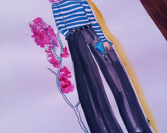 Original Fashion Illustration