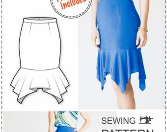 Skirt Pattern - PDF Sewing Patterns