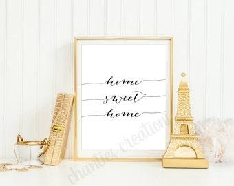Home Sweet Home Printable. Sweet Home Wall Art. Housewarming Gift. Home Sweet Home Wall Art. First Home Gift. Wedding Gift.