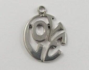 Love Sterling Silver Vintage Charm For Bracelet