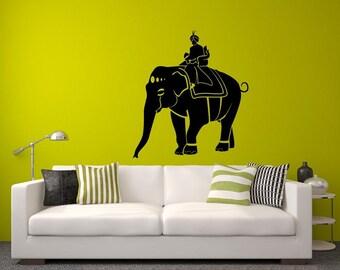 Maharaja Elephant India Design Wall Decal