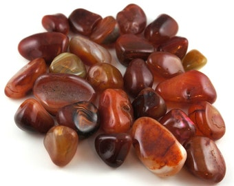 Bag of Carnelian tumbled stone various sizes 100 gr