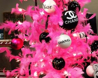 CC & Dior Black or White Christmas Tree Ornament