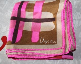 Vintage Vera Scarf: Hot Pink Stripes, Silk