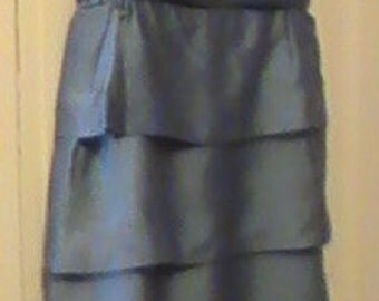 Blue Satin 1940's Dress