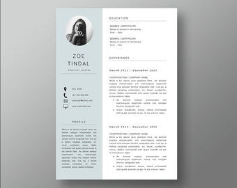 resume and cover letter template professional microsoft word resume cv template resume design - 1 Page Resume Template Word