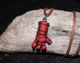Hellboy Right Hand of Doom necklace Big Red