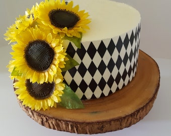 Edible Sunflowers, Wafer Paper Flowers for Cakes