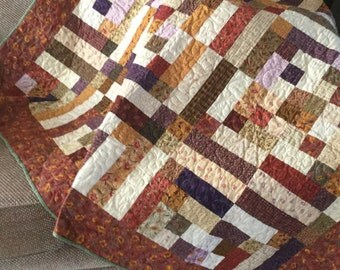 Folk Art Fancy/ Benartex/HANDMADE / lap quilt / throw quilt / patchwork quilt