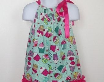 Birthday Cupcake Pillowcase Dress