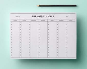 50% sale! Weekly planner - hours (4 am to 12 am) #1