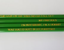 The Hobbit My Precious Gollum Engraved Pencils Middleearth for Valentine's Day Custom Pencils