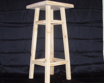 Wood Stool 30 in.