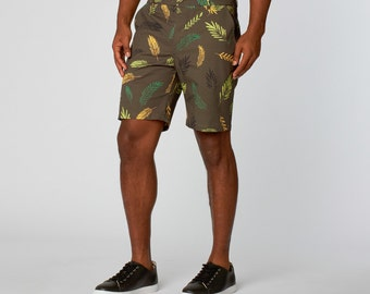 Graphic Shorts for Men Army Green