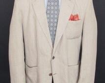 "Size L - Banana Republic Adventure Outfitters 1980's VTG linen sport coat/jacket/""blazer"""