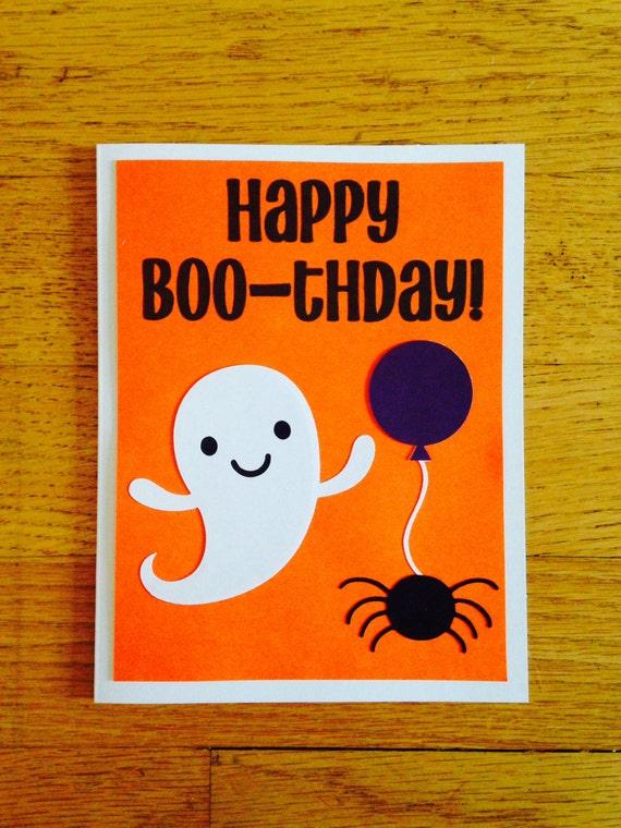Happy Birthday Card Happy Boo-thday Halloween