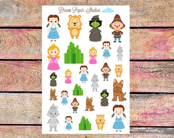 Wizard of Oz planner stickers