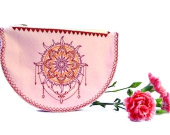 Bohemian Makeup bag // Zipper pouch // Pencil hoder// Gift for her // Travel pouch // Pencil case // Makeup Brush holder // Girlfriend gift