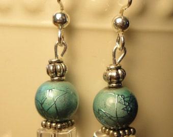 Turquoise swirl beads