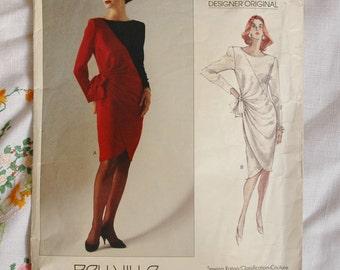 Vintage Vogue 2408, Designer Original, Belville Sassoon, dress pattern 1989, size 14, bust 36 inches