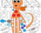 Dog's Dream Coloring Page , Coloring Pages , Adult Coloring Book , Adult Coloring Pages , Instant Download , Food , Dog