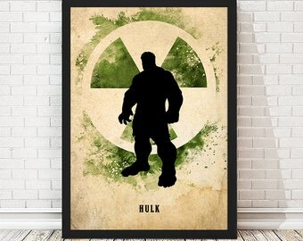 Vintage Avengers Hulk Poster, Retro Poster, Minimalist Poster