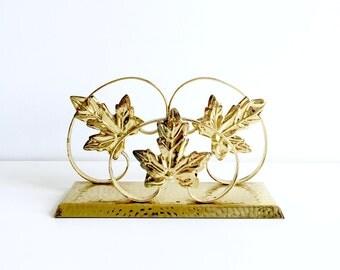 Ornate Brass Plated Letter Holder