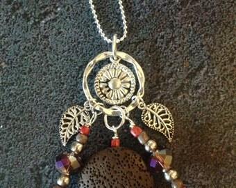 Autumn Splendor Lava Diffuser Necklace