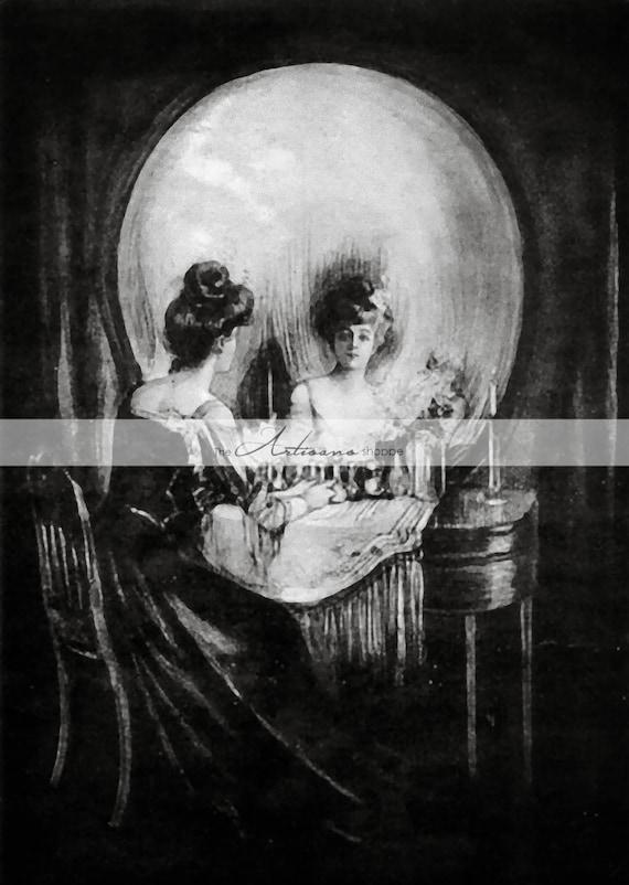 Digital Download Printable Antique Optical Illusion Skull