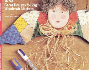 Decorative Painting Book for Woodcraft Markers, Success With Markers, Designs for Zig Woodcraft Markers, Painting With Woodcraft Markers