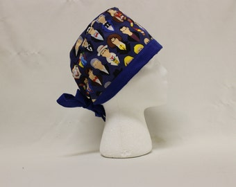 Doctor Who Portraits Surgical Scrub Cap Chemo Dentist Hat