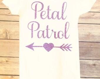 Petal Patrol Shirt, Flower Girl Shirt, Flower Girl Baby, Flower Girl Toddler, Girl's Flower Girl Shirt, Baby Flower Girl, Flower Girl Shirts