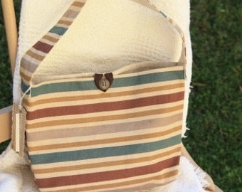 Striped anytime Purse