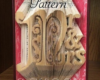 Mr & Mrs v9 - Folded Book Art Pattern - Combination Fold - Instant Download!