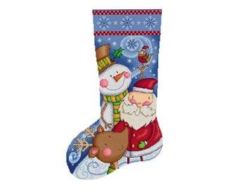 Christmas Stocking - Durene J Cross Stitch Pattern