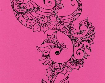 Screen printing services for Mehndi decoration