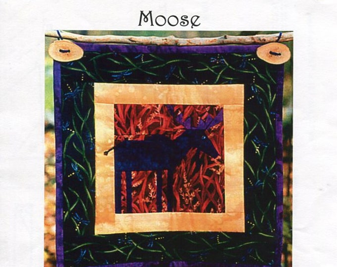 Free Usa Shipping North Start Quilt as you travel Moose Woodland Forest Hunting Craft Sewing Pattern Machine or Hand stitched