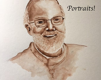 Custom Commissioned Watercolor Portrait
