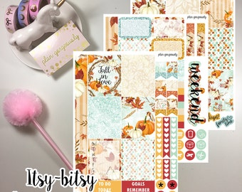"Personal Sticker Kit - ""Fall In Love"" - Personal Planner Stickers - Fall Planner Stickers"