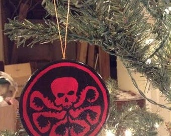 Marvel Hydra and Shield Christmas Ornament
