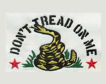 2.5T Medium Don't Tread On Me  Embroidery Design - Instant Digital Download
