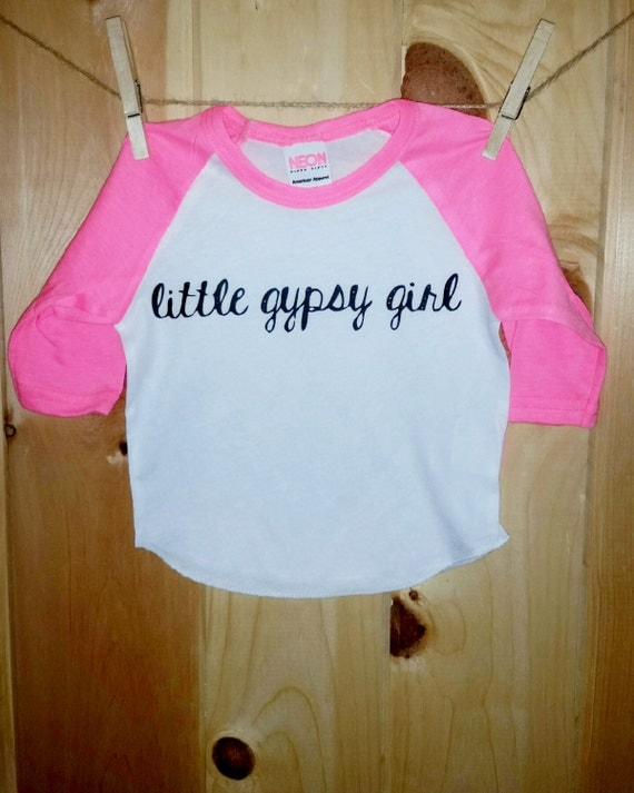 Little Gypsy Girl Raglan Tee