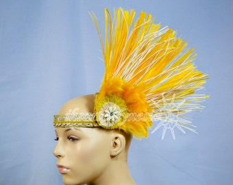 Simple side hau Tahitian dance costume head piece