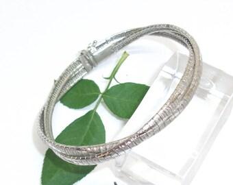 925 silver bracelet braided bracelet SA133